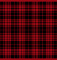 red and black lumberjack tartan plaid seamless pat vector image