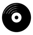 retro vinyl record icon vector image vector image