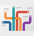 road infographic option diagram process chart vector image vector image
