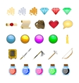 RPG game icons set potions buttons weapons scrolls vector image vector image