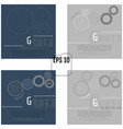 set of of gears with on the grey background vector image vector image