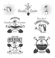 Set of vintage garden center emblems vector
