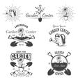 set vintage garden center emblems vector image vector image