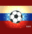 soccer ball on salute and spangle vector image