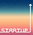 Startup new business with space on backgrou vector image vector image