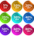 Stickers for discount offers vector image vector image