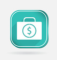 suitcase with money Color square icon vector image