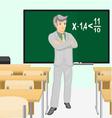 Teacher of mathematics vector image vector image