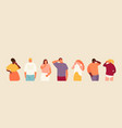 tired people set vector image vector image