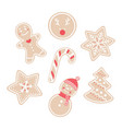 traditional seasonal bakery for winter holidays vector image