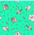 tropical flower and leaf seamless pattern vector image