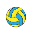 volleyball symbol color vector image vector image