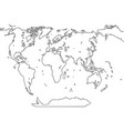 world map sketch abstract background vector image