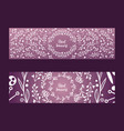 wreaths leaves and flowers set banners vector image vector image