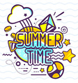 yellow and blue color summer time quote o vector image vector image