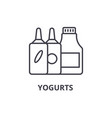 yogurts line icon outline sign linear symbol vector image vector image