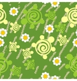 Seamless grunge turtle texture 511 vector image