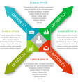 Infographic arrows concept vector image