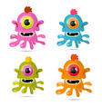 Abstract Monsters - Aliens Set vector image vector image