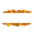 Autumn leaves around blank rectangle vector image vector image
