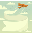 Biplane with banner vector image vector image