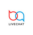 bubble logo live chat symbol online social vector image vector image