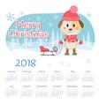 calendar 2018 year week starts from sunday vector image