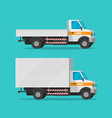 cargo trucks or lorry and delivery automobiles or vector image vector image