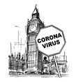 cartoon rough sketchy united kingdom london vector image vector image