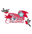 Christmas Card - with Winter Birds vector image vector image