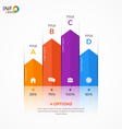 column chart infographic template 4 options vector image vector image