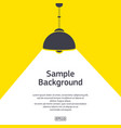 dark lamp with light background vector image vector image