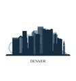 denver skyline monochrome silhouette vector image vector image