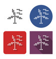 dotted icon wind turbine in four variants vector image