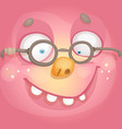 face with glasses vector image