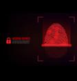 fingerprint scanning on digital background vector image