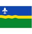 flag flevoland netherlands vector image vector image