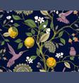 floral seamless pattern botanical vector image
