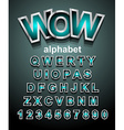 funny colorful alphabet font to use for children vector image vector image