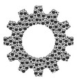 gear wheel mosaic of weight icons vector image vector image