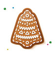 gingerbread bell isolated on white christmas vector image
