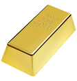 Gold bar vector image