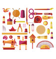 handmade creative diy projects icons for sewing vector image vector image