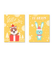 hello winter be merry posters vector image vector image