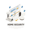 home security design concept vector image