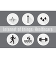 Internet of Things IoT- Healthcare Set of 6 flat vector image vector image