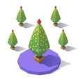 isometric low poly tree vector image vector image