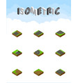 isometric road set of unilateral downward vector image vector image