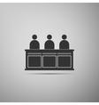 Jurors icon vector image