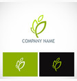 leaf nature ecology logo vector image vector image